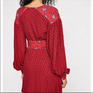 Free People Dresses - NWOT Free People wonderland mini dress in red